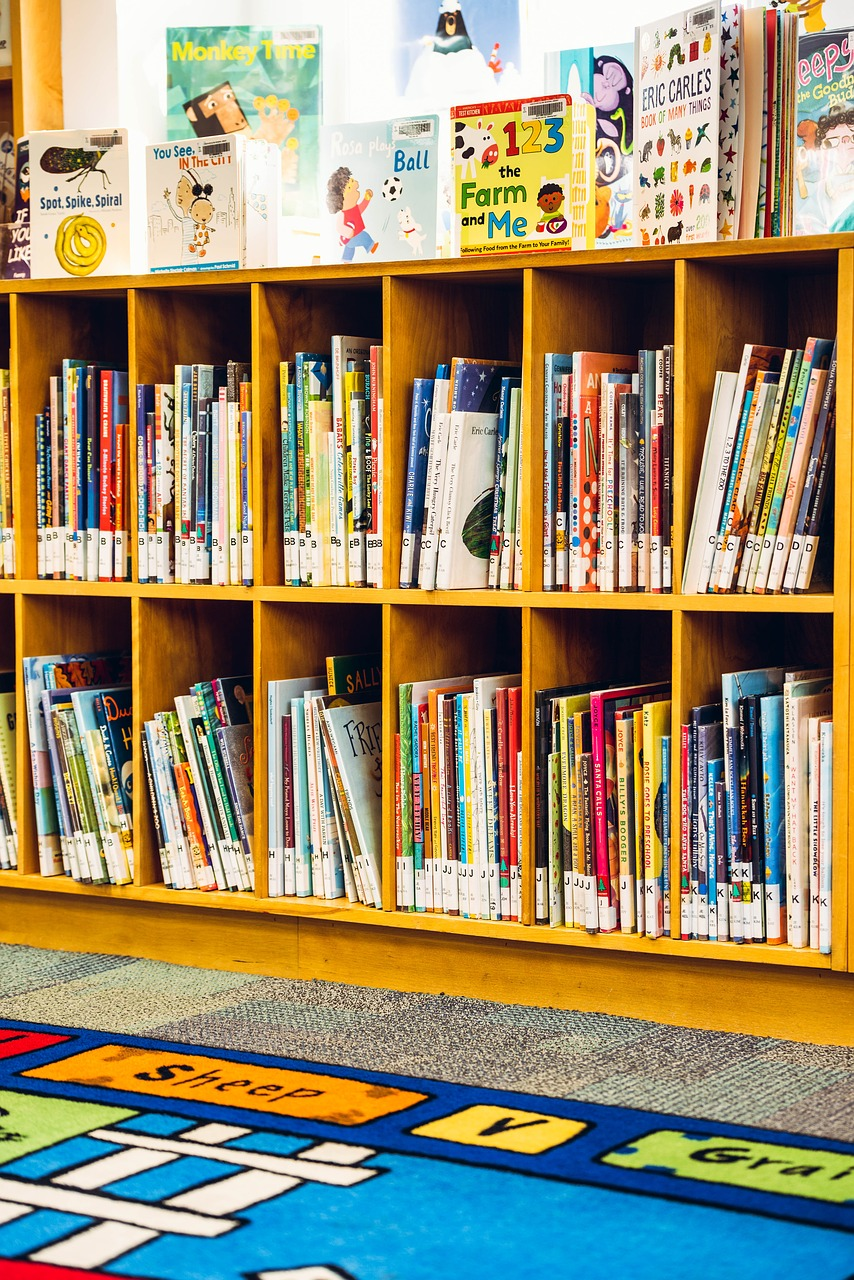 children's section of library, library